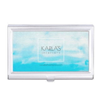 Modern Watercolors Background Interior Design Business Card Cases
