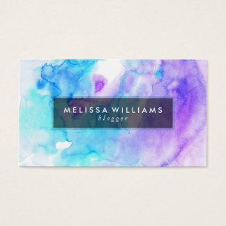 Modern Watercolors Background Purple & Blue Business Card