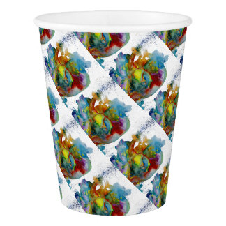 Modern Watercolour Anatomical Heart Paper Cup