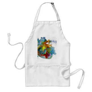 Modern Watercolour Anatomical Heart Standard Apron