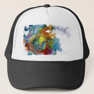 Modern Watercolour Anatomical Heart Trucker Hat