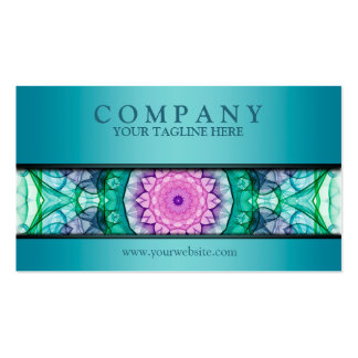modern WaterLily mandala teal Pack Of Standard Business Cards