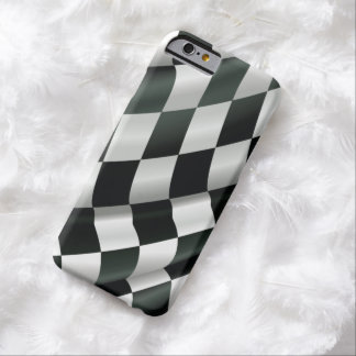 Modern Waving Checkered Flag iPhone 6 Case
