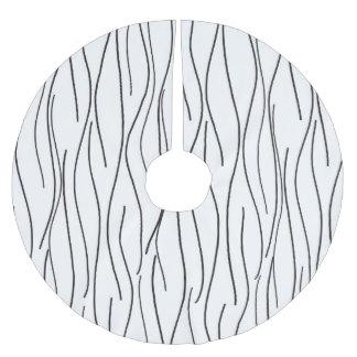Modern Wavy Lineart Brushed Polyester Tree Skirt