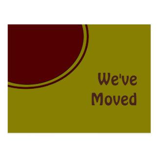 Modern We ve Moved Post Cards