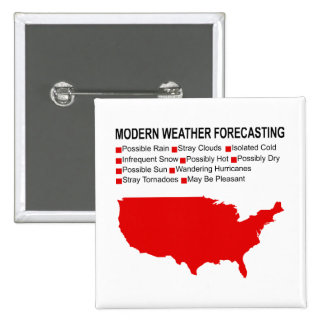 Modern Weather Map 15 Cm Square Badge