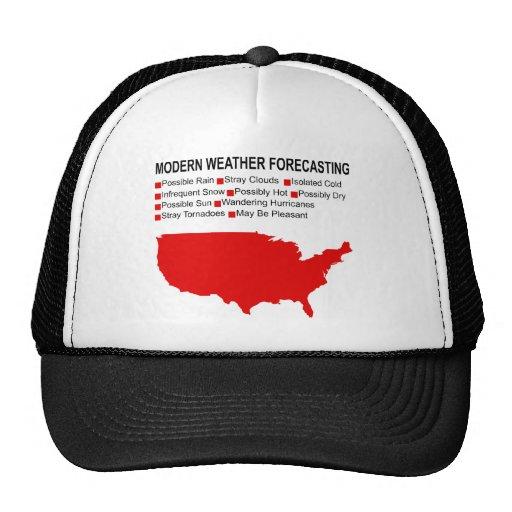 Modern Weather Map Mesh Hat