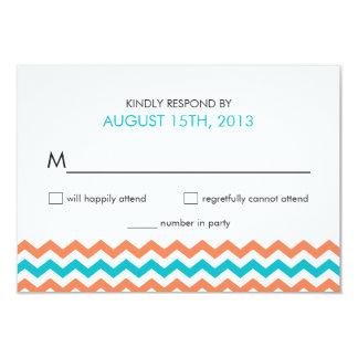 Modern Wedding Chevron Zigzag RSVP Cards