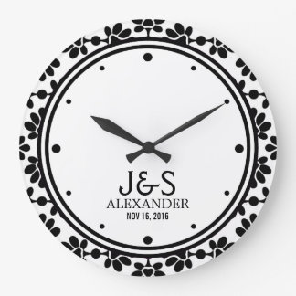 Modern Wedding Couple Personalized Large Clock