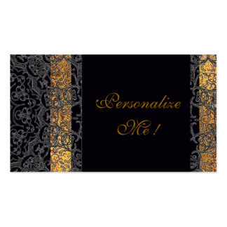 Modern Wedding Elegant Black/Gold Trendy Stylish Pack Of Standard Business Cards