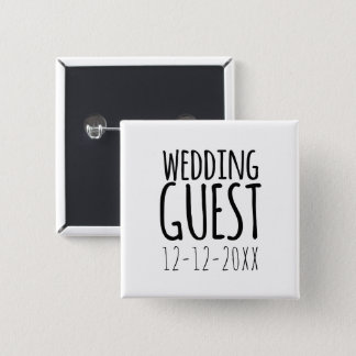 Modern Wedding Guest Favor Pin Button
