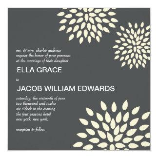 Modern Wedding Invite // Posh Petals // Vanilla