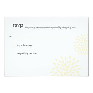 Modern Wedding RSVP // Posh Petals // Vanilla Card