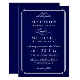 Modern Wedding Stylish White Script Invitation