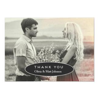 Modern Wedding Thank You Photo Card 13 Cm X 18 Cm Invitation Card