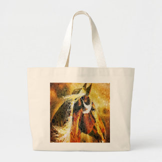 modern western country abstract horse canvas bags