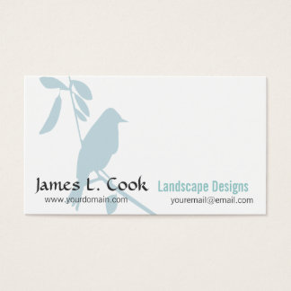 Modern Whimsical Blue-Bird Professional Business Card