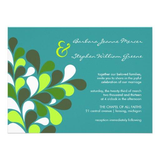 Modern Whimsical Tree Wedding Invitations