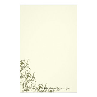 Modern Whimsy: Traditional Meets Modern Scroll Personalised Stationery