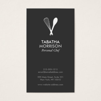 MODERN WHISK & SPOON on DK GRAY Business Card