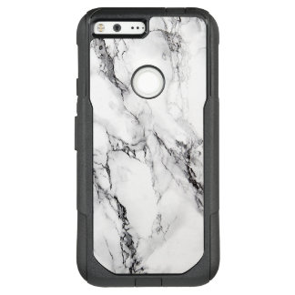 Modern White And Black Marble Stone Texture OtterBox Commuter Google Pixel XL Case