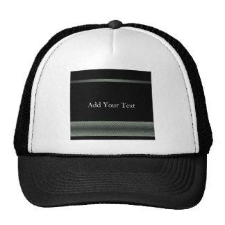 Modern White and Black Racing Stripe Hat