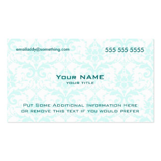 Modern White and Blue Damask Pack Of Standard Business Cards