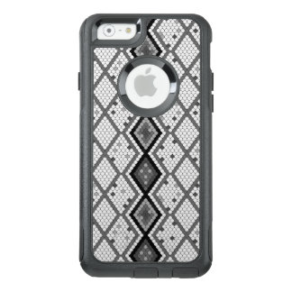 Modern White And Gray Tiles Geometric Pattern OtterBox iPhone 6/6s Case
