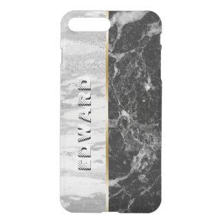 Modern White & Black Marble Print iPhone 8 Plus/7 Plus Case