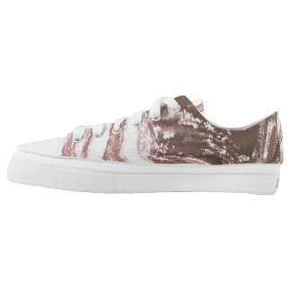 Modern_White_Brown  Zipz Low Top Shoes Printed Shoes