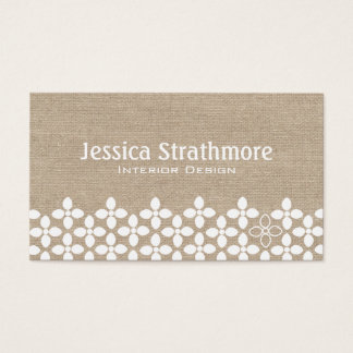 Modern White Flower Business Card