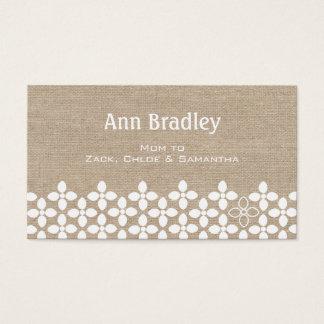 Modern White Flower Mommy Business Card