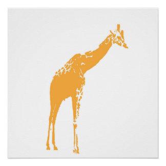 Modern White Giraffe Poster Decor