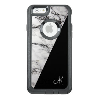 Modern White Gray And Black Marble Stone Texture OtterBox iPhone 6/6s Case