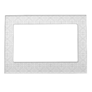 Modern White Grey Geometric Pattern Magnetic Picture Frame