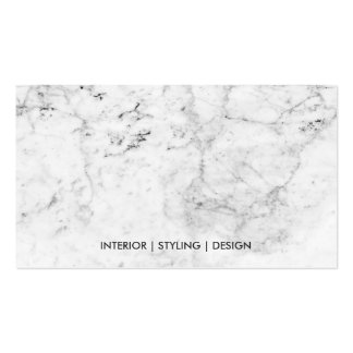 Modern white marble faux copper metal professional pack of standard business cards