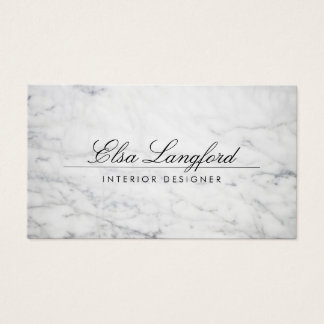 Modern White Marble Luxury Designer Business Card