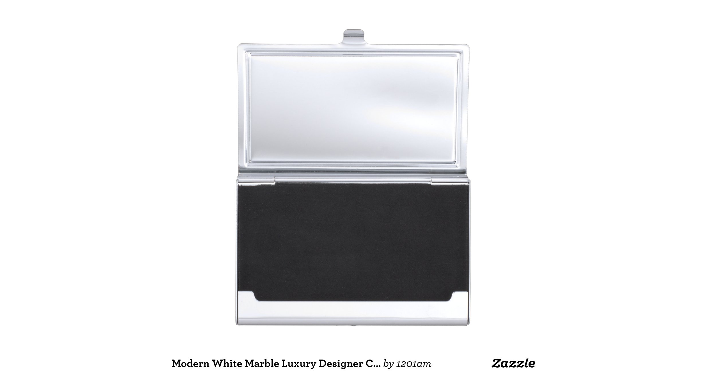 Modern white marble luxury designer card case business for Modern business card case