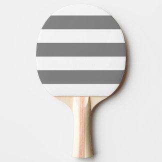 Modern White, Medium Gray Stripe Ping Pong Paddle