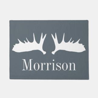 Modern White Moose Antlers Doormat