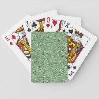 Modern White on Green Stripe Playing Cards