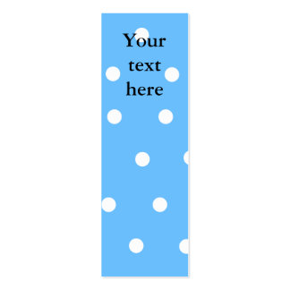 Modern white polka dots on baby blue background business card