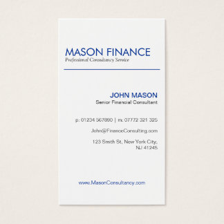 Modern White Vertical - Professional Business Card