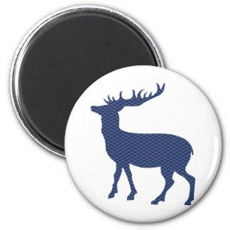 Modern wild deer 6 cm round magnet