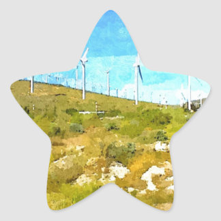 Modern Windmills Star Sticker