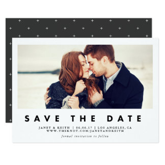 Modern Window Save the Date Photo Card