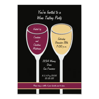 Modern Wine Tasting Party Invitation