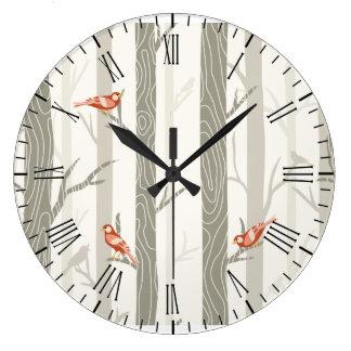 Modern Winter Aspen Wall Clock