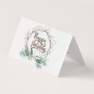Modern winter forest dried branches pine holidays card