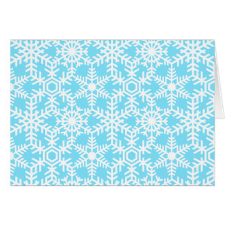 Modern Winter Snowflake Web Holiday Greeting Card